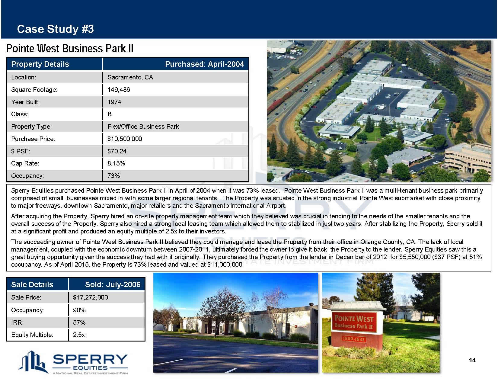 Pointe West Business Park Case Study